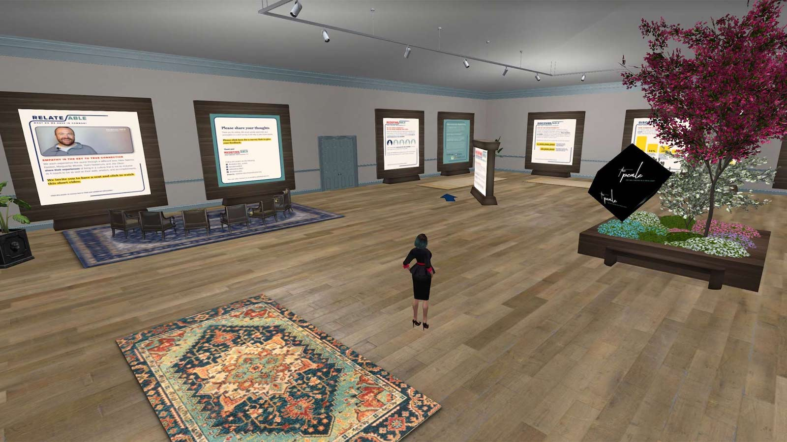 Redefine/ABLE Second Life exhibit