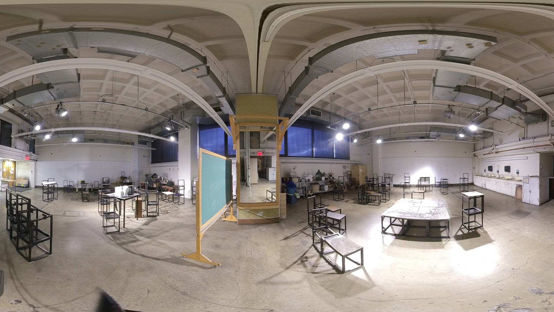 A panoramic image of the Drawing Studios in the Art Department